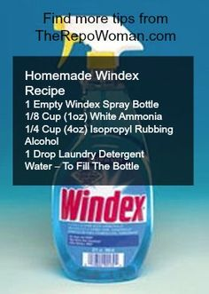 Pin It Now and save it for later!  Copycat Windex Recipe!