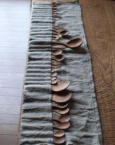 houten lepels door M. SAITo Wood WoRKS #spoons #lepels #styling #crafts