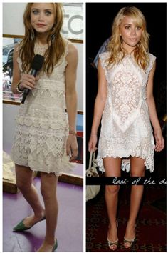 Ok, geek out on the Olsen Twins. But these Magda Berliner lace dresses are perfect.