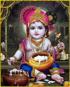 Bal Krishna http://vedichealing.com/krishna-janmashtami-2016/
