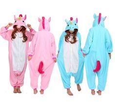 Unicorn Kigurumi Pajamas Animal Cosplay Costume Unisex Adult Onesie Sleepwear #Unbranded #UnisexAdultOnesieSleepwear