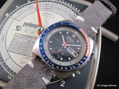 For Sale: Early 1977 Seiko 6139-6002 Automatic Chronograph, with handmade plush leather strap