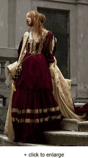 Gowns Pagan Wicca Witch:  Renaissance Nobility Velvet Dress, Pearsons.