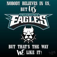 Don't underestimate these underdogs! Fly Eagles Fly! #philadephiaeagles #superbowl #superbowlLII #underdogs #philadelphia #eagles #nfl #foles #wentz #football #believe #flyeaglesfly