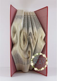 Love Word Book Folding Pattern  Instant by PatternsByDaisyKay
