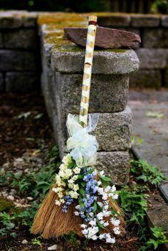 Maryland African American Wedding Broom 275x412 Intimate Outdoor Wedding Ceremony in Maryland: Talisha + Monica