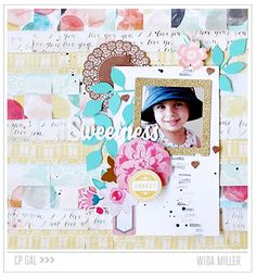 #papercraft #scrapbook #layout  Crate Paper | Wida Miller | Sweetness Styleboard Layout