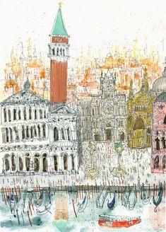 "Clare Caufield, ""The Campanile, Venice"""