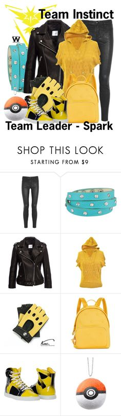 """""""Pokemon Go - Team Instinct"""" by wearwhatyouwatch ❤ liked on Polyvore featuring Valor, J Brand, George J. Love, Anine Bing, jon & anna, Tommy Hilfiger, wearwhatyouwatch, Pokemon, nintendo and spark"""