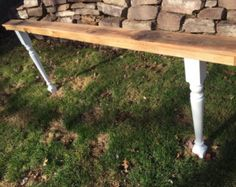 Sofa couch arm rest table by AlbertsWoodshop1 on Etsy