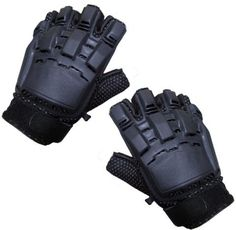 Sup Grip Armor Paintball Gloves (Half Finger - Black) Large - paintball gloves by Rap4. $17.22. These gloves have protective molding for your knuckles. The half-finger gloves allow your fingers tips to feel the objects. They are ideal for paintball players. You can more accurately measure your glove size by using a tape measure as shown below. Wrap a tape measure around your hand at the widest point (usually the knuckles) and make a loose fist. Note that measurement round...