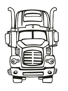 18-Wheeler Coloring Pages | print | Pinterest | Craft, Cricut and ...