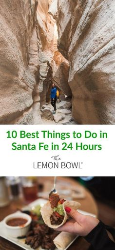 10 Best Things to Do in Santa Fe in 24 Hours - The Lemon Bowl® - Your ultimate Santa Fe travel guide – here is my list of the 10 best things to do in 24 hours! New Mexico Road Trip, Travel New Mexico, Mexico Vacation, Italy Vacation, Stuff To Do, Things To Do, Good Things, Sante Fe New Mexico, Lemon Bowl