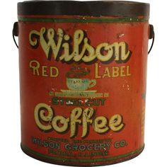 Wilson Red Label Coffee