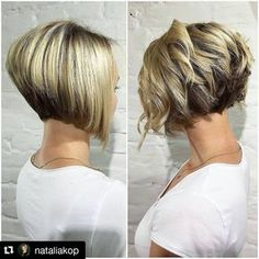 """102 Likes, 4 Comments - @bobbedhaircuts on Instagram: """"#Repost from @nataliakop Beautifull bob straight or curly just wow #longtoshorthaircut…"""""""