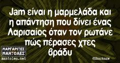 Οι Μεγάλες Αλήθειες της Τετάρτης Funny Greek Quotes, Funny Picture Quotes, Sarcastic Quotes, Funny Quotes, Puns, The Funny, Jokes, Wisdom, Lol