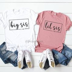 Big Little Sorority Big Little Sorority Shirts, Big Little Shirts, Big Sister Shirts, Big Sister Reveal, Big Sister Little Sister, Big Sisters, Family Shirts, Kids Shirts, Big Sister Announcement