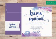 Convite Aquarela