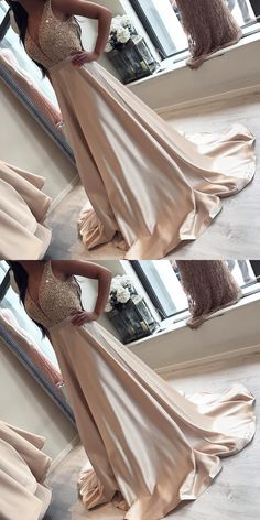 A-Line Beading Prom Dress,Long Prom Dresses,Prom Dresses,Evening Dress, Evening Dresses,Prom Gowns, Formal Women Dress,prom dress #promdress #promgown #prom #dress #gown #longpromdress #simplepromgown #charmingpartydress #eleganteveningdress #promdress #Vneckpromgown #RosyProm