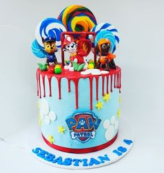 Last minute cake in Sydney, Sydney Last minute cake, Order cakes online Torta Paw Patrol, Paw Patrol Cupcakes, Paw Patrol Birthday Theme, Paw Patrol Party, Order Cakes Online, Cake Online, Construction Party Cakes, Cake Designs For Boy, 2 Birthday Cake