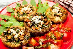 Healthy Baked Mushroom Stuffed With Quinoa Recipe – Kayla Itsines