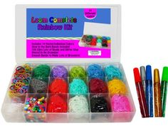 Loom Rainbow Rubber Band Complete Collection & Organizer Storage Kit for just $24.99! (Regularly $66.99) - http://www.pinchingyourpennies.com/loom-rainbow-rubber-band-complete-collection-organizer-storage-kit-just-24-99-regularly-66-99/ #Loom, #Rainbowloom, #Rubberband