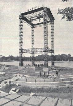 Construcción del monumento a Alfonso XIII en El Retiro