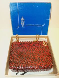 Considerate Antique Crochet Iridescent Peacock Blue Bead Fringe Satin Lined Flapper Purse Elegant In Smell Clothing, Shoes & Accessories
