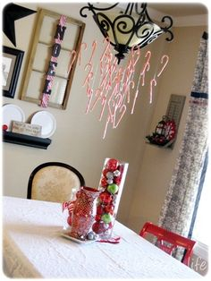 A Candy Cane Christmas Chandelier!!