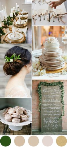 elegant rustic neutral wedding color palettes for fall