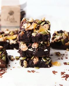 Trail Mix Brownies via @feedfeed on https://thefeedfeed.com/bromabakery/trail-mix-brownies