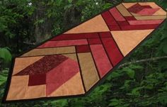 Tulip and Stained glass table runner from Ozark Mountain Patchwork