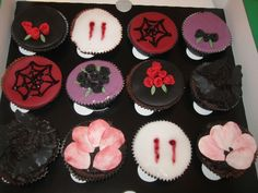 A selection of gothic cupcakes