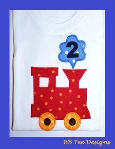 Choo Choo Train birthday shirt with number by beyondbaskets, $20.00