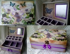 Decoupage vintage box