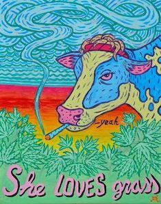 She loves grass, you love grass. Be happy, save money, grow your own marijuana and make small edible delicious marijuana candies. MARIJUANA - Guide to Arte Bob Marley, Marijuana Art, Medical Marijuana, Cannabis Oil, Trippy Painting, Hippie Painting, Trippy Wallpaper, Hippie Wallpaper, Stoner Art