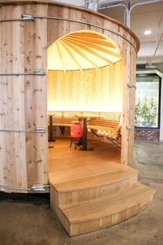 "Google Office - A Tour Of Google's Offices - 2012 - ""The interior of the ""water tower,"" built right on the fifth floor."""
