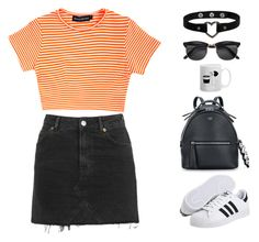 """Untitled #1687"" by i-am-leia ❤ liked on Polyvore featuring adidas Originals, Topshop, Fendi and H&M"