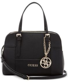 GUESS Huntley Small Cali Satchel $73.50 Exotic and elegant at once, this compact satchel from GUESS boasts an organized interior and two ways to carry.