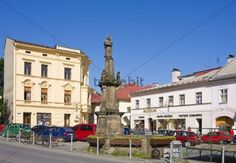 Square in Jablunkov Frydek-Mistek district Moravskoslezsky region Czech Republic Europe