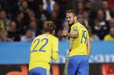 Emir Kujovic of Sweden during the FIFA World Cup Qualifier between Sweden and Netherlands at Friends arena on September 6, 2016 in Solna, Sweden.
