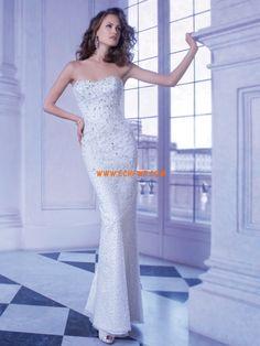 Longo Chique & Moderno Sem Mangas Vestidos de Noiva 2014