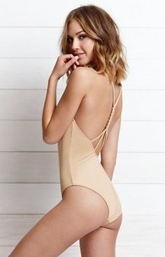 LA Hearts Deep V Braided Strap One Piece Swimsuit at PacSun.com
