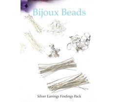 Silver Earring Findings Kit or Starter Set