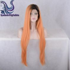 Find More Blended Hair Wigs Information about Fashion Kylie Jenner Hair Orange Ombre Wig Dark Roots Black/Peach Two Tone Hair Synthetic Lace Front Wig Heat Resistant Fiber,High Quality wig case,China wig city Suppliers, Cheap wig form from Synthetic Wig Outlets on Aliexpress.com