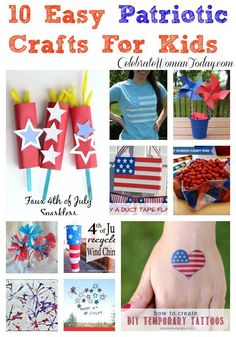10 Easy Patriotic Crafts For #Kids #Crafting #4thOfJuly