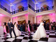 First dance at Hedsor House with Mighty Fine Entertainment & Production - Music and Lighting to highlight the space. Photos by Bellissima Photography.