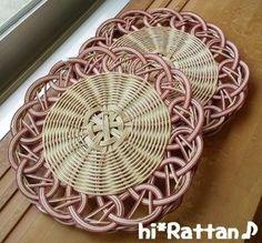 籐カゴ(ё_ё)hi*Rattan♪:KKさんトレイ2点