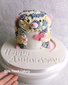 Toddler Birthday Cakes, Animal Birthday Cakes, Funny Birthday Cakes, Pink Birthday Cakes, Homemade Birthday Cakes, Animal Cakes, Pink Cakes, Best Birthday Cake Designs, Brithday Cake