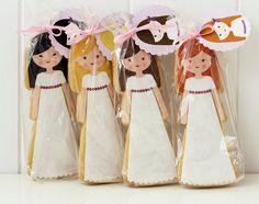 Postreadicción galletas decoradas, cupcakes y pops: Galletas de comunión con papel de azúcar